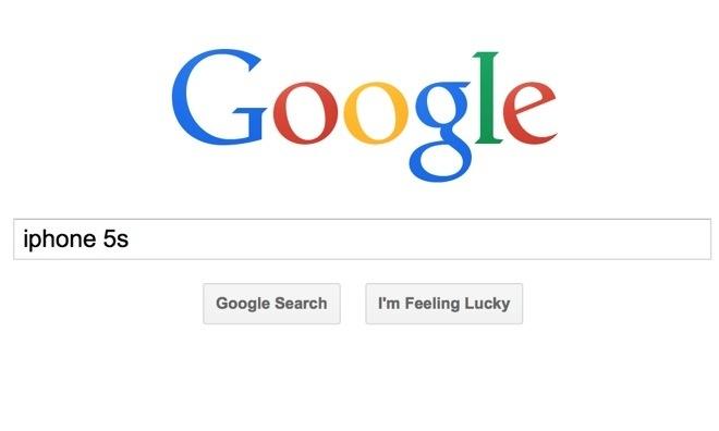 グーグル検索画面