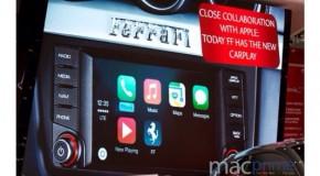 ジュネーブのモーターショーでフェラーリにCarPlay搭載を発表
