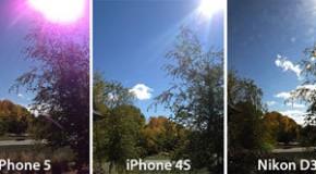iPhone5 カメラで撮った写真に紫の縞模様が発生