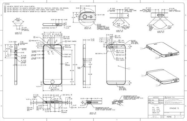 iPhone5の詳細設計図公開!?