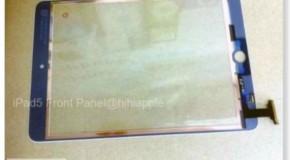 iPad5のフロントパネルと思われる画像が流出