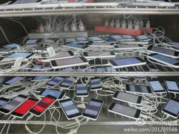 iphone5c テストモード端末